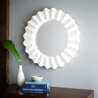 west elm Papier-Mache Round Mirror