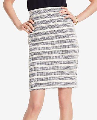 Ann Taylor Textured Stripe Pencil Skirt