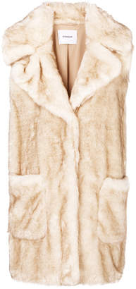Dondup sleeveless faux-fur coat