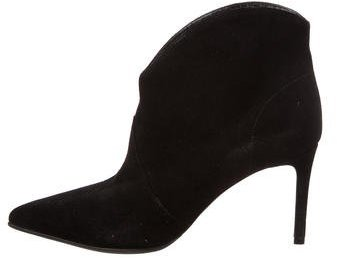 Saint Laurent Saint Laurent Suede Pointed-Toe Booties