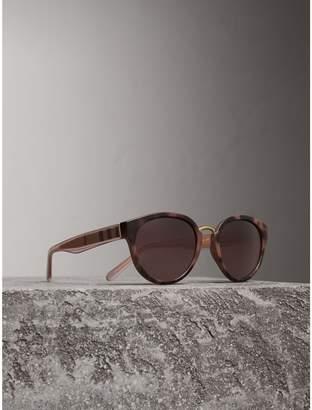 Burberry Check Detail Cat-eye Frame Sunglasses