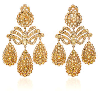 Sylvie Corbelin Marquise Palace Citrine Chandelier Earrings