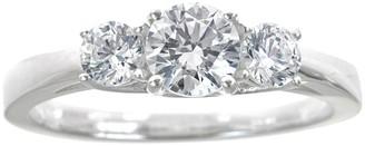Affinity Diamond Jewelry 3-Stone Diamond Ring, 14K Gold, 1.00cttw, by Affinity