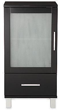 JCPenney Frosted Pane Short Cabinet