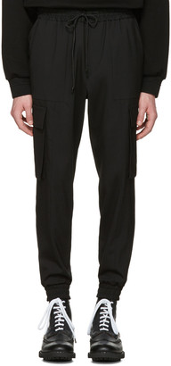 Juun.J Black Drawstring Cargo Trousers $565 thestylecure.com