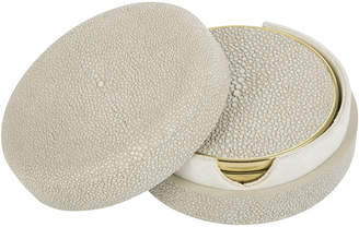 AERIN Shagreen Coasters Set of 4 - Wheat
