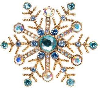 Betsey Johnson Large Snowflake Ring