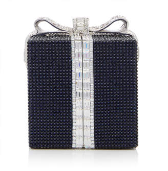 Judith Leiber Couture Wrapped Gift Austrian Crystal Cube Clutch