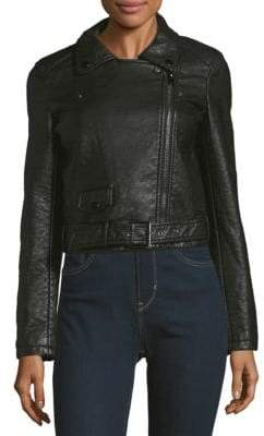 Joe's Jeans Textured Long-Sleeve Moto Jacket