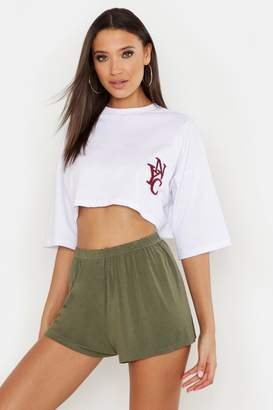 boohoo Tall Jersey Flippy Shorts
