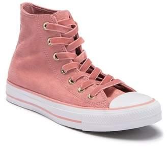 Converse Chuck Taylor All Star Embossed Velvet High Top Sneaker (Women)