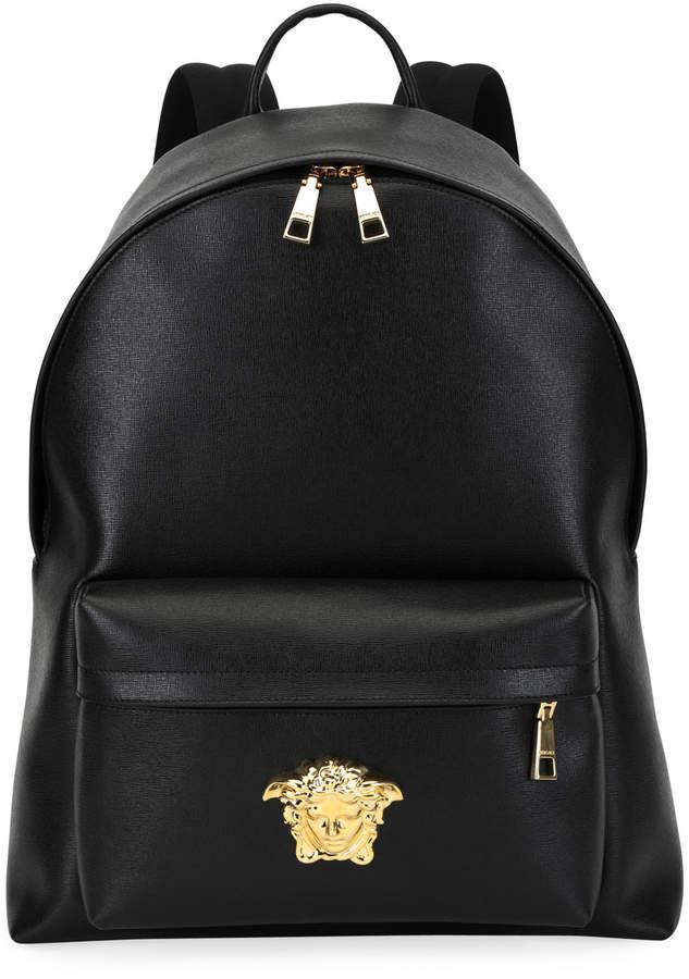 e2d7c8a0b1c3 Versace Men s Leather Medusa Backpack - ShopStyle