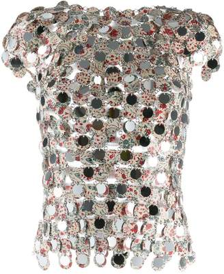 Paco Rabanne printed pailette blouse