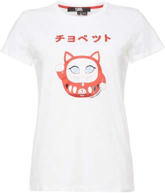 Karl Lagerfeld Ikonik Japan Printed Cotton T-Shirt