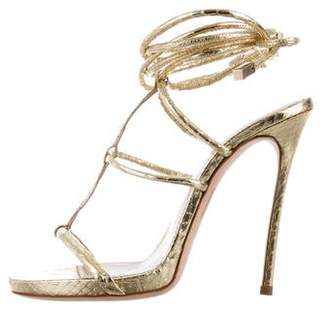 DSQUARED2 Metallic Embossed Sandals