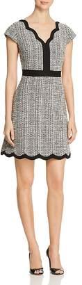 Kate Spade Scalloped Tweed Dress