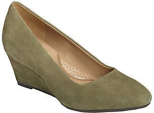 Aerosoles Heel Rest Leather Wedge Pumps - InnerCircle