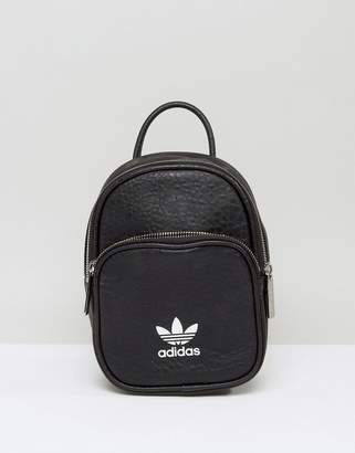 adidas Leather Look Mini Backpack In Black 1efd6c0be3a1e