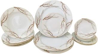 One Kings Lane Vintage Japan Porcelain Dinnerware Set - Set of 17 - Jacki Mallick Designs