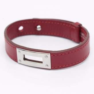 Hermes Kelly Burgundy Leather Bracelets