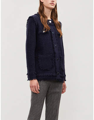 Claudie Pierlot Mari bouclé wool-blend cardigan