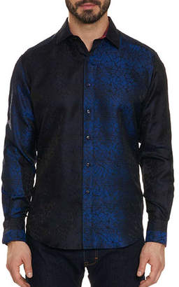 Robert Graham Limited Edition Seibelesk Metallic Silk Sport Shirt