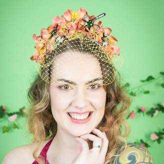 23fdafbac536d Couture GG's Pin-up Jewelled Bug Veiled Fascinator