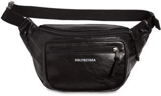 Balenciaga Logo Detail Leather Belt Pack
