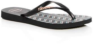 Havaianas Girls' Zig-Zag Slim Flip-Flops
