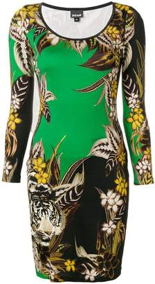 Just Cavalli tiger jungle print dress