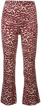 Piamita printed cropped trousers