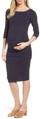 Isabella Oliver Jennifer Dot Ruched Maternity Dress