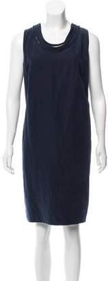 LK Bennett Linen-Blend Knee-Length Dress