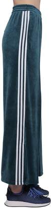 adidas VELVET TRACK PANTS W/ SIDE BANDS