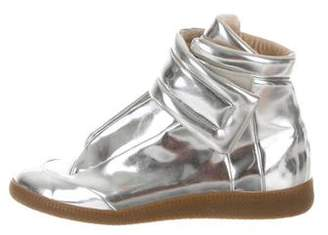 Maison Margiela Leather High-Top Sneakers
