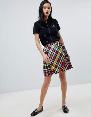 Fred Perry x Le Kilt Plaid Skirt