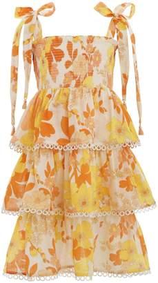 Zimmermann Primrose Shirred Tiered Dress