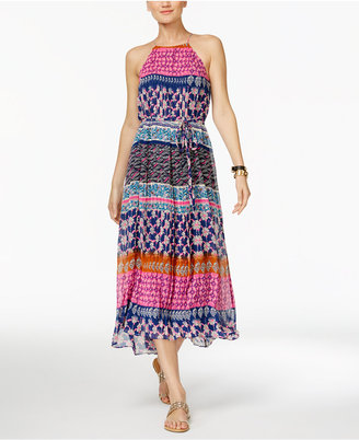 INC International Concepts Printed Halter Midi Dress, Only at Macy's $129.50 thestylecure.com