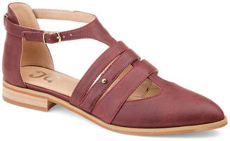 Journee Collection Womens Jc Jemy Ballet Flats Buckle Pointed Toe