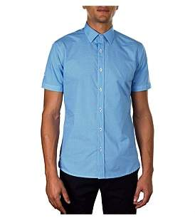 James Harper Short Sleeve Faraday Mini Anchor Print Slim Fit Shirt