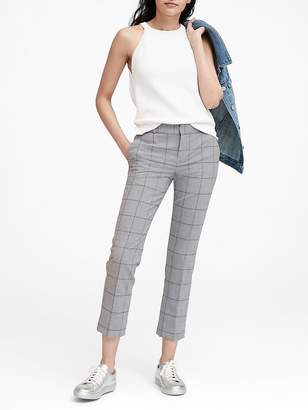 Banana Republic Petite Avery Straight-Fit Lightweight Wool Ankle Pant