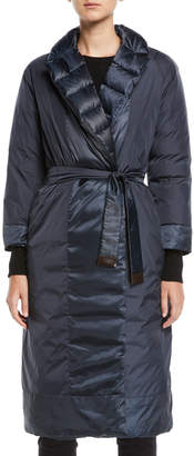 Max Mara The Cube Here is the Cube Collection Noveco Reversible Long Taffeta Jacket w/ Travel Case