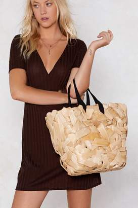 Nasty Gal WANT Straw the Line Shopper Bag