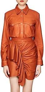 Isabel Marant Women's Nile Leather Blouse - Camel