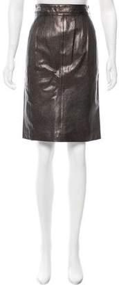 Belstaff Metallic Leather Skirt w/ Tags