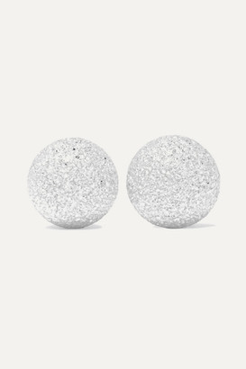 Carolina Bucci Extra Small Florentine 18-karat White Gold Earrings