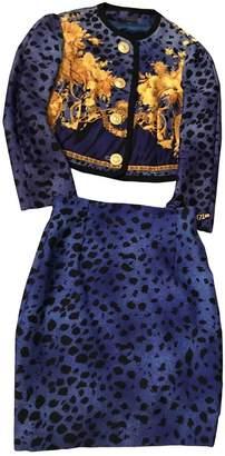 Gianni Versace Blue Cotton Jacket for Women Vintage