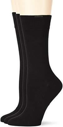 Nur Die Women's 45500 Calf Socks (Pack of 3),(Manufacturer size: )