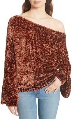 Caroline Constas Chenille One-Shoulder Sweater