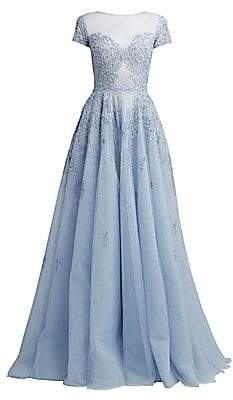 ZUHAIR MURAD Women's Alicante Embellished Tulle Gown